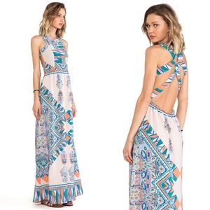 Lovers + Friends Kitty Cat Maxi Dress Printed